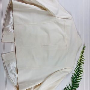 Mexx Jackets & Coats - Cream cropped jacket with burton neck